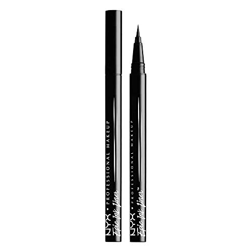 NYX Professional Makeup Epic Ink Eye Liner, Filzstift, Wasserfest, Vegane Formel, 2er Pack, Shade 01