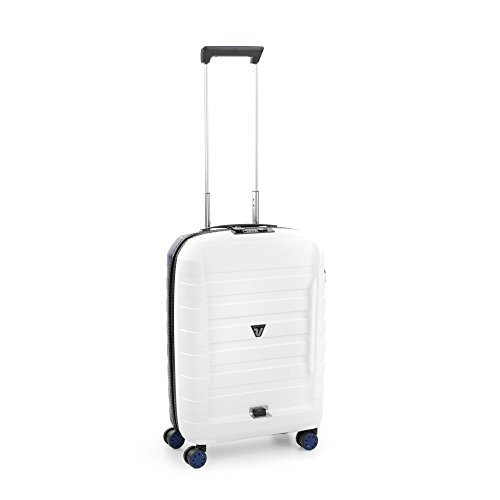 Roncato D-Box Trolley Cabin 55 x 40 x 20 cm (Base), Size: 55 x 40 x 20 cm, Unisex_Adult, 55533083, White/Navy, S