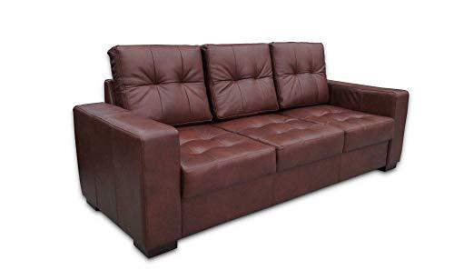 Quattro Meble Echtleder 3 Sitzer Sofa Mallorca Pik Breite 205cm Ledersofa Echt Leder Granada Cognac Couch große Farbauswahl !!!