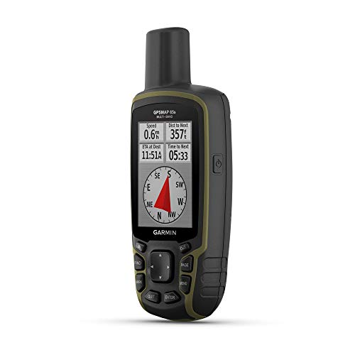 Garmin GPSMAP 65s, Button-Operated Handheld with Altimeter and Compass, Expanded Satellite Support and Multi-Band Technology, 2.6  Color Display