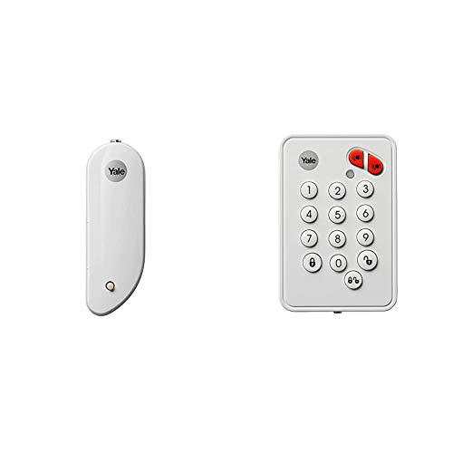 Yale EF-DC Easy Fit Alarm Door/Window Contact, White, DIY Friendly, Accessory for SR & EF Alarms & EF-KP Easy Fit Alarm Remote Keypad, White, DIY Friendly, Accessory for SR & EF Alarms