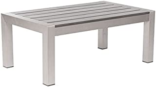Zuo 701860 Cosmopolitan Coffee Table, One Size, Brushed Aluminum