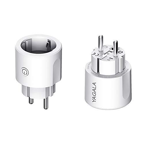 Enchufe Inteligente WiFi, Smart Plug compatible con Google Home Amazon Alexa IFTTT, para iOS Aplicación de Android, Establecer Horario El Mando A Distancia, No necesitas de Hub