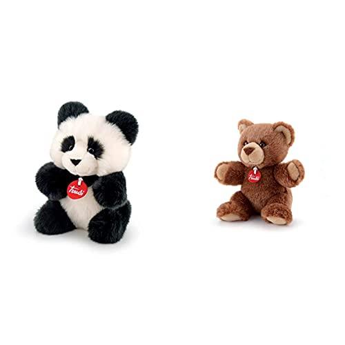 Trudi Peluche Orso Panda, Colore Bianco/Nero, 29005 & Orso Peluche, Multicolore, 52187