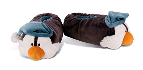 NICI 42042 Winter Hausschuhe Pinguin Toddytom, 34-37, grau/weiß