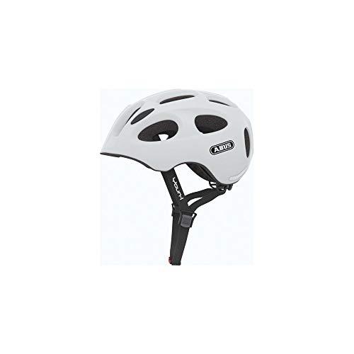 ABUS Youn-I Kinderhelm - Fahrradhelm für Kinder mit LED-Rücklicht für den Alltag - für Mädchen und Jungen - 84143 - Gelb, Größe S
