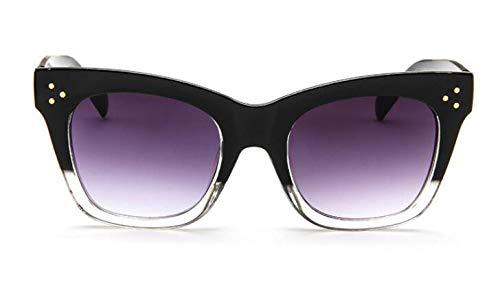 TYJYY Zonnebril Rivet Kat Oog Zonnebril Vrouwen Luxe Zonnebril Voor Vrouwelijke Oversized Oogkleding Beroemdheid Kim Kardashian Uv