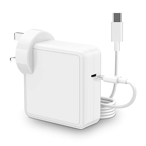 USB C Charger Compatible with Mac book Pro/Air with Cable (2M) 61W Power Adapter for Mac book Pro 13'' 15'' 2016Late Air 2018 Late