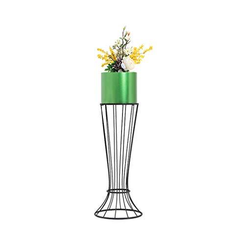 MMM@ Cadre de fleurs nordique en fer forgé salon balcon multifonctions sur pied créatif moderne minimaliste stand de fleurs (Couleur : Green, taille : 69 * 20cm)