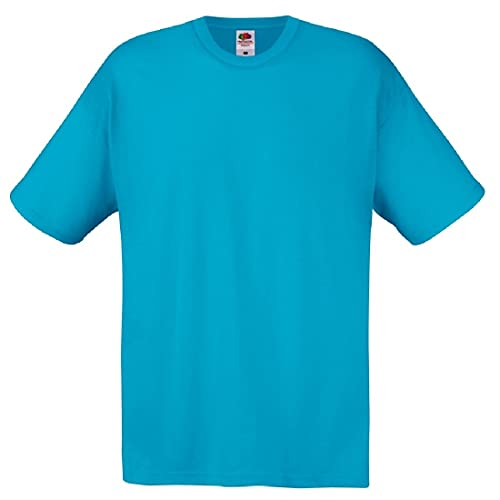 Fruit of the Loom - Camiseta Básica de Manga Corta de Calidad diseño Original Hombre Caballero (2XL) (Azul Celeste)