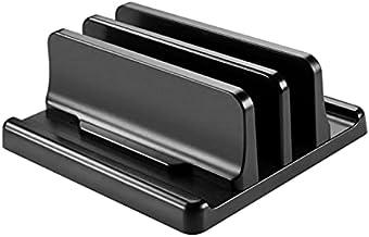 Vertical Adjustable Laptop Stand Notebook Mount Base Space Saving Holder for MacBook Pro/Air Windows Laptop (Black)