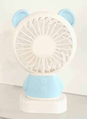 La selección, ventilador de oso azul portátil luminoso recargable USB - LED multicolor 3 velocidades