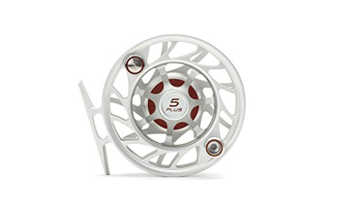 Hatch Gen 2 Finatic 5 Plus Fly Reel, Clear/Red, Large Arbor