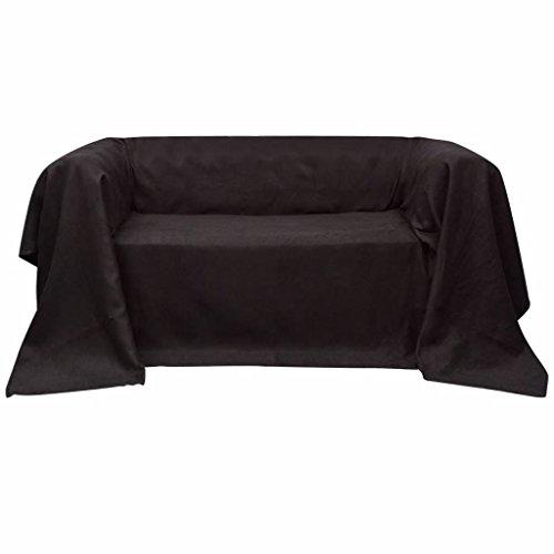 Manta de sofá de microseda, color marrón, de primera calidad, 210 x 280 cm