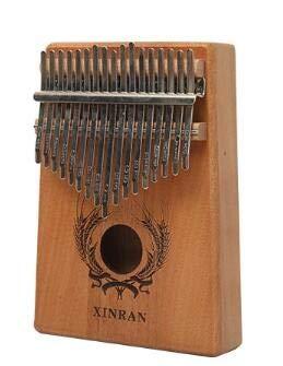 17-Tasten-Daumenklavier, hochwertiges Holz mit Stimmhammer-Schultasche