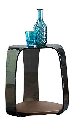 Linea Vetro Como Beistelltisch, Glas, 46x42x50 cm