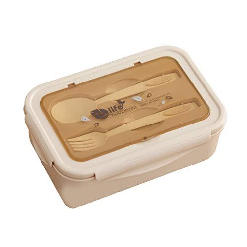 Caja de almuerzo para niños con compartimentos, caja de almuerzo a prueba de fugas, caja de almuerzo, calefacción por microondas para escuela, trabajo, picnic, viajes.