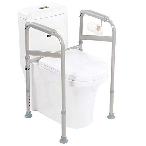 soporte de seguridad marco Independiente para inodoro Toilet, estructura con Reposabrazos de apoyo para el baño ducha para discapacitados pasamanos para discapacitados embarazadas Apoyo antideslizante