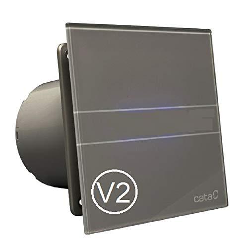 CATA E GLAS G Standard V2 Badlüfter Front - echtes Glas (E-100G S/silber-grau / 00900400)