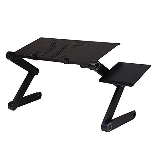 Soporte para Laptop, Base Ajustable Y Plegable, Soporte De Ratón para Notebook PC Laptop Tener Un Radiador,Negro