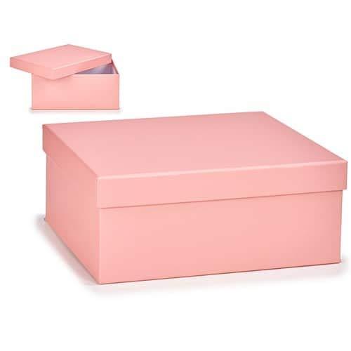 CABLEPELADO Caja almacenamiento para regalo de carton grande Rosa claro