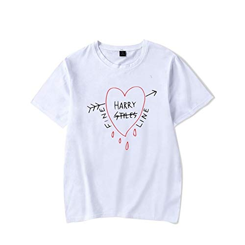 JIAN Camiseta Camisa Harry&Style Camiseta de algodón Vetement Femme Hombres Ropa Mujer Harajuku Verano de Las Mujeres Camiseta de Manga Corta Remata TES Femenino 2020 (Color : 001, Size : M)