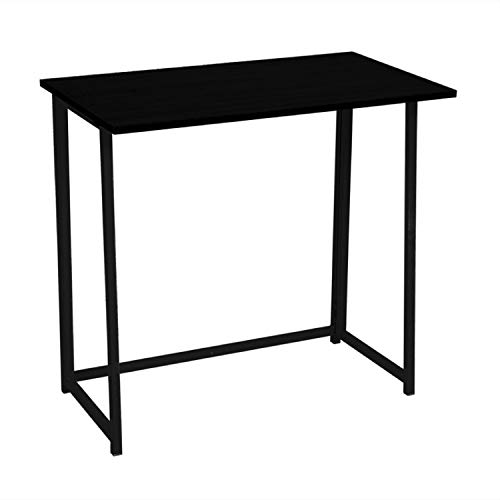 Vidal Regalos Mesa de Escritorio Plegable Negra 80x75 cm