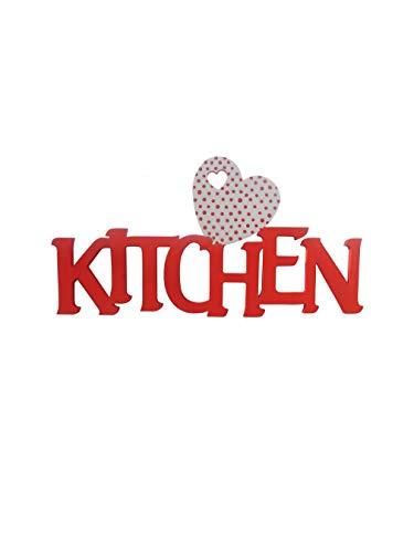 Colorcoop Scritta Il Legno Kitchen (Rosso)