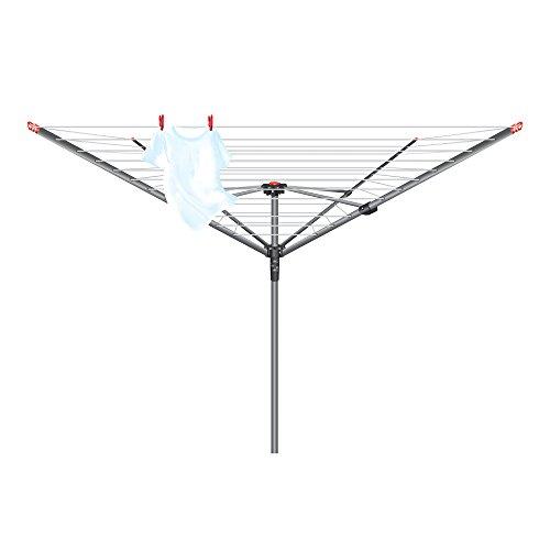 Vileda 158781 - Secador rotativo de 4 Brazos, 45 m, Color Plateado
