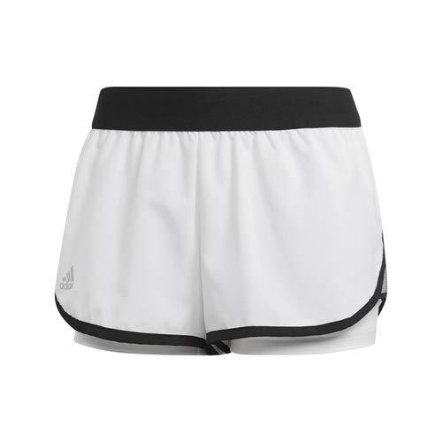 adidas Pantaloncini Club Tennis Donna, Donna, Pantaloncini, DP0273, Bianco/Nero, XXS