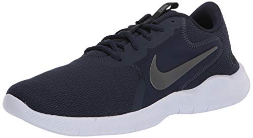 Nike Mens Flex Experience RN 9 Running Shoe, Obsidian/Metallic Cool Grey-Black, 41 EU