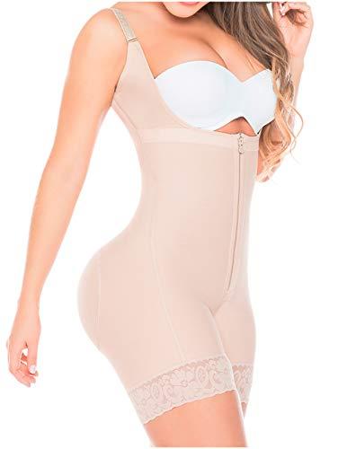 FAJAS SALOME Women's 0216 Body Shaper Girdle Gluteus Enhancer 3XL Nude