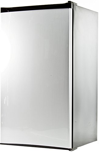 Equator REF 121L-33 SS Compact Stainless Defrost Refrigerator, 3.3 cu.ft net capacity, Low noise, Energy saving, Reversible door, Special can-holder, Water holding tray, Sealed back design