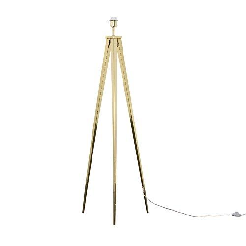 Large Modern Gold Metal Tripod Floor Lamp Base