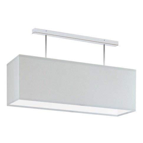 Lámpara de techo Korfu con pantalla de color gris claro, marco cromado