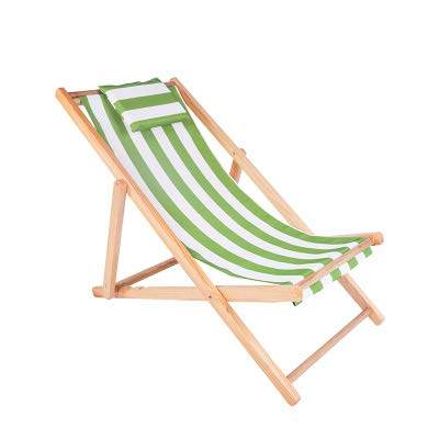 Beach Chair,Wood Folding Lounge Chair with Armrest,Sunbathing Recliner Stripe Portable for Garden Pool Outdoor N