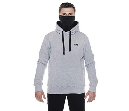 Ninja Ultras Hooligan ACAB Riot Kapuzenpullover mit eingearbeiteter Sturmhaube L12 (XL)