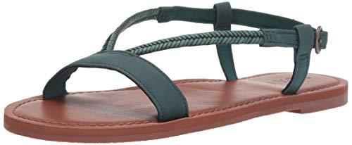 Roxy Damen Kitty Strappy Flache Sandale, blaugrün, 38 EU