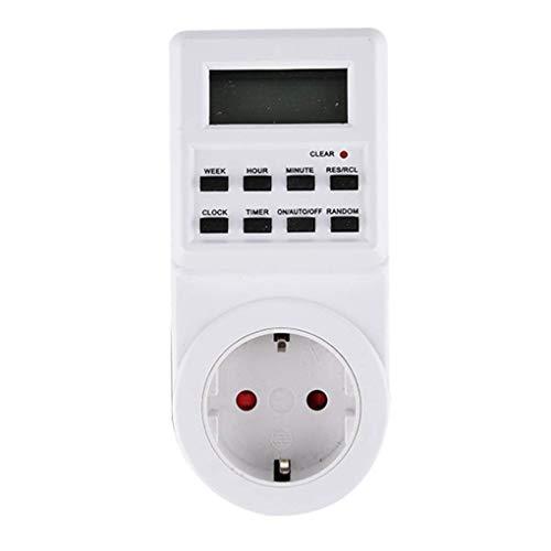Digitale timer voor klein scherm Socket Elektronische vermogensmeter LCD-scherm 12/24 uur Verwisselbare timinguitgang, EU-stekker