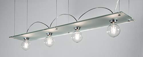 Luminaire de juge à LED Bauhaus Pro100 avec verre satiné et ampoule à filament Globe 6 W Transparent