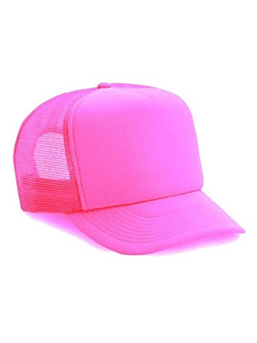 Neon Mesh Trucker Hat Cap (Neon Pink)