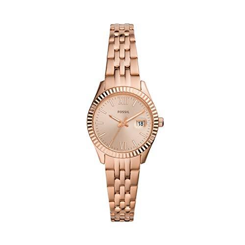 Fossil - Reloj Tradicional de Cuarzo de Acero Inoxidable para Mujer ES4992