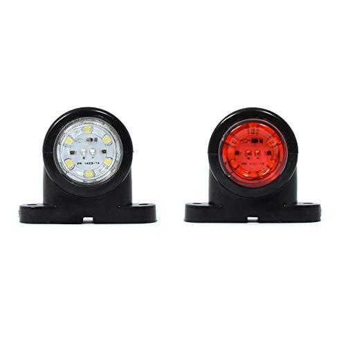 2x G LED LKW Begrenzungsleuchten 12V/24V Positionsleuchten Anhänger Rot Weiß