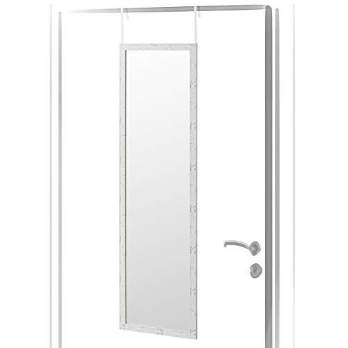 Espejo de Puerta Blanco nórdico de plástico de 35 x 125 cm - LOLAhome