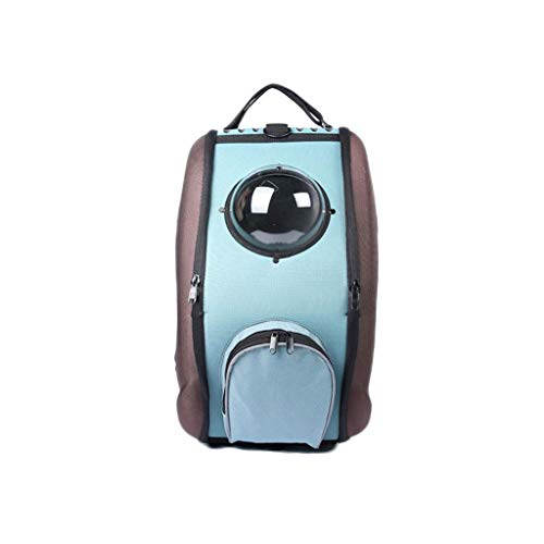 Tragbarer Kinderwagen Hartschale Wasserdicht und atmungsaktiv Hund Katze Kutsche Nicht leicht for Outdoor-Reisen verformt (Color : Brown)