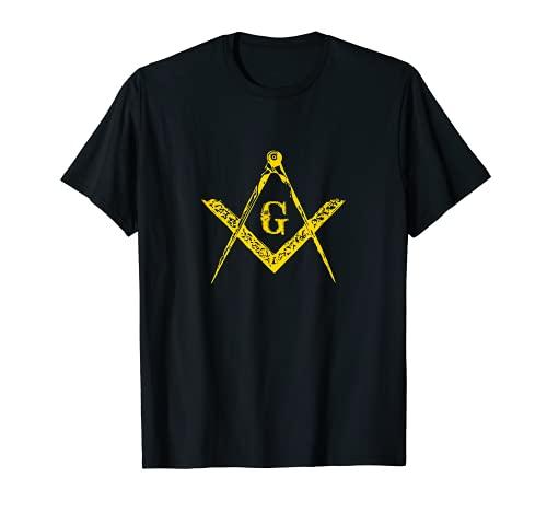 Freimaurer quadratisch & Kompass | Freimaurer Bestellung T-Shirt