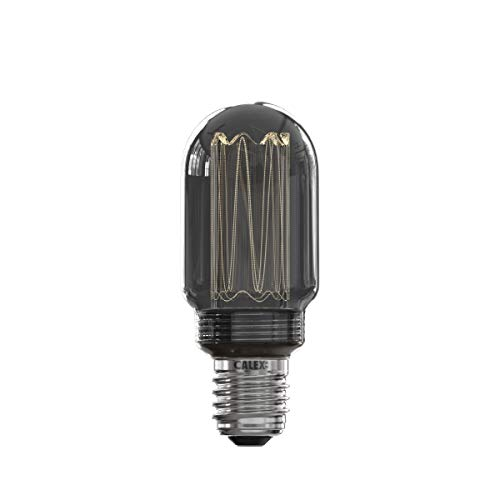 Calex Bombilla LED tubular de fibra de vidrio T45 220-240 V 3,5 W 40 lm 2000 K titanio E27 regulable