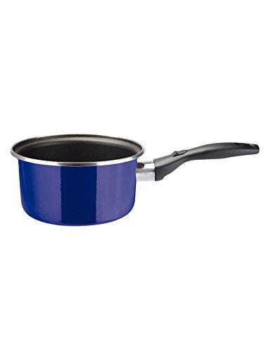 VITREX 71PVCZMAZ16 71PVCZMAZ16-Cazo Gourmet de Acero esmaltado Antiadherente 2 Capas inducción Modelo Marseille Azul de 16 cm, Multicolor