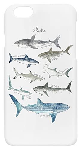 Tiburones Tipos iPhone 6, 6S Funda de Dlástico Duro para Teléfono Hard Plastic Cover
