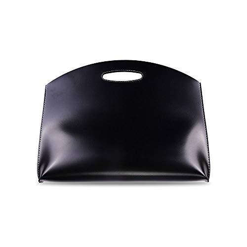 CostownsブリーフケースA4 大きめセカン ドバッグ メンズ レディース バッグ 手持ち バッグ A4サイズ 15インチ ipadpro 収納可 ビジネス 封筒袋 資料ケース ct-07 (ブラック)